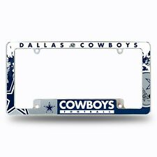 Dallas Cowboys Chrome ALL OVER Premium License Plate Frame Cover Truck Car