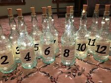 Table Numbers Wedding Party Glass 1-15 Lot Vintage Style Antique Distressed