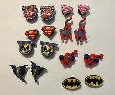 Brand New Lot Of 16 MARVEL Superheroes Shoe Charms BATMAN SUPERMAN SPIDER-MAN