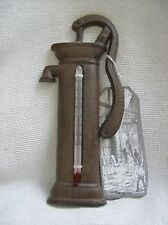 Thermomètre de jardin en fonte vintage Nouveauté pompe à eau