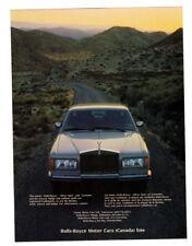 1987 ROLLS-ROYCE Vintage Original Print AD - Silver car photo desert canadian ad