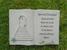 Grandad Grave Memorial Ornament Remembrance Stairway To Heaven Book