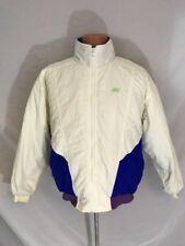 Vtg 1990s Nike Winter Ski Coat Jacket Multi Color White Blue Zip Up Lined Sz L