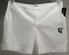 NWT $46 Style&co.Women's White Solid Cotton Blend Shorts Size: 18