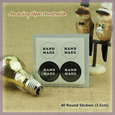 40 x 'Hand Made' Stickers (3.5cm) | Wedding Favours Gift Seal Craft Australia
