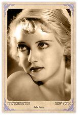 BETTE DAVIS Screen Legend Vintage Photograph A++ Reprint Cabinet Card CDV