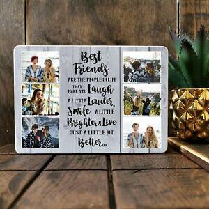 7x5'' Personalised Best Friend Gift Family Plaque Keepsake Photo Block Present