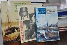Lot de 3 vol.- Gabarier sur la Dordogne.- Bateliers.- Fonte du Périgord