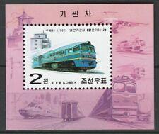 Korea 2002 Trains Locomotives / Railroads MNH Block
