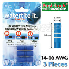 POSI-LOCK 14-16 AWG WATERTITE WIRE CONNECTORS, WATERPROOF, REUSABLE - 3 PK