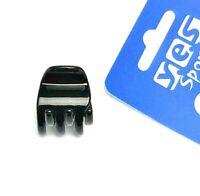 Anti-Rutsch Sport Haarspange Patentspange Haarklammer Barrette gummiert blau