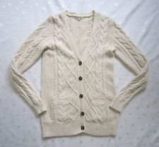 madewell by J. CREW Cable Knit Cream Ivory Long Cardigan Sweater ~ Size M ~ NWOT
