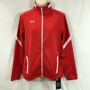 Under Armour Women's UA Qualifier Red Full Zip Jacket Sz Small 1270482