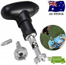 Golf Spike Wrench Shoes Ratchet Action Replacement Aid Remover Adjustment Tool