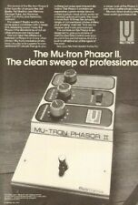 1979 Mu-tron Phasor II. The clean sweep of professionals - Vintage Ad