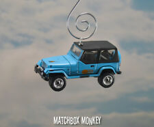 Blue 1987 Jeep Wrangler Islander Custom Ornament 1/64 Adorno 4x4 Soft Top YJ