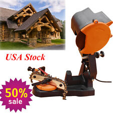 USA Electric Chainsaw Blade Sharpener Sharpen Grinder Chain Saw Bench Wall Vise