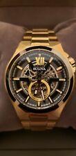 Bulova Men's Automatic Gold-Tone Stainless Steel Bracelet Watch 46mm 98A178/READ
