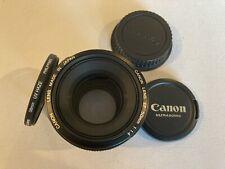 Canon EF 50mm F/1.4 USM Telephoto Lens and 58mm UV Haze Filter