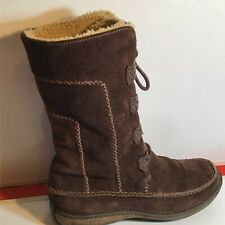 Timberlands Woolly Lined  Mid Calf Length Women's Suede Boots Size UK4/EU37/USA6