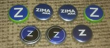 Lot 7 COORS BREWING CO ZIMA XXX lemon lime PLASTIC LINED BEER BOTTLE CROWN CAPS
