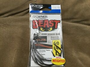 Owner Beast Twist Lock Weight Shank Hook 6/0 1/4 oz