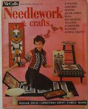 Vintage 1950s McCall's Needlework Magazine FALL WINTER 1958-59 Knitting Crochet