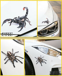 1 X 3D Waterproof Spider Lizard Scorpion Sticker Car Body Decal Reptile Stickers
