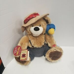 "PBC Chantilly Lane Musical Stuffed Teddy Bear 12"" Pete and Tweet Duet"