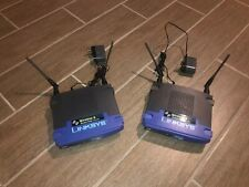 Lot Of 2 Linksys Cisco Wireless-G Access Points WAP54G V3.1