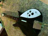 Nintendo Wii NWGTS5 Rock Band Beatles Rickenbacker Wireless Guitar + DONGLE