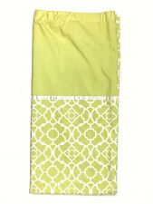 Waverly Green & White Trellis Print Shower Curtain Fabric Discontinued Pattern