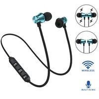 Bluetooth Stereo Earphone Headset Wireless Magnetic In-Ear Earbuds Headphone EB