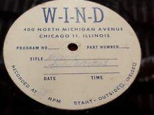 Hear Rare Acetate Jungle Surf Guitar Sax Rocker 45: The Capitols - Chicago WIND