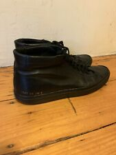 Common Projects Original Achilles Mid Black Leather Sneaker - size 43