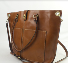 Patricia Nash Leather Marseille Grommet Tote Tan - A