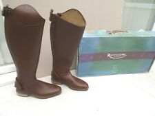 NEW RECTILIGNE LONG RIDING BOOTS,LIGHT BROWN LEATHER,6 UK,35 CM CALF,BOXED