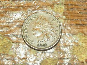 1881 INDIAN CENT XF DDO SNOW 11 RARE COIN