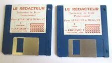 LE REDACTEUR Logisoft 1988 - Logiciel  Vintage pour ATARI ST et Mega ST