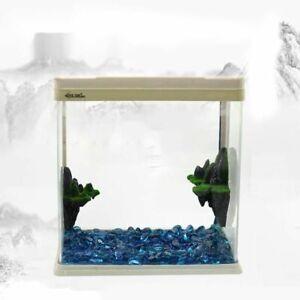 Fish Tank Rockery Ornament Landscaping Clay Wall 2pcs Aquarium Accessory