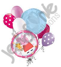 7 pc Peppa Pig w/ Stuffed Animal Balloon Bouquet Party Decoration Nick Birthday