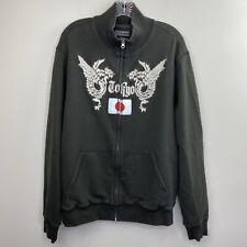Lucky Brand Men Vintage Inspired Full Zip Tokyo Japan Flag Dragons Sweatshirt XL