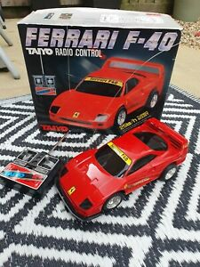 Ferrari F-40 Taiyo Radio Control RC Car Boxed Rare Vintage Spares Repair