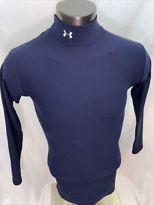Under Armour Men's Blue Coldgear Mock Athletic Compression Shirt - Size XL