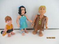Vintage Lawn Mowin' Barney, Betty and Peebles MATTEL Figures LOT of 3