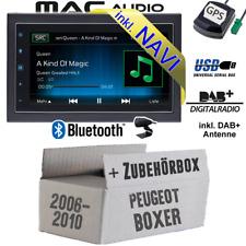 Autoradio Per Peugeot Boxer 2 Da 2006 DAB GPS USB Bluetooth DAB+ Navigatore Set