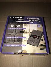 Sony Digital Telephone Answering Machine TAM-100 Gray 027242552357 TESTED!!!