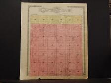 Missouri Audrain County Map Wilson or Salt River Township 1918 Dbl Sde K11#11