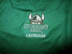 CLEVELAND STATE VIKINGS LACROSSE WARM UP JACKET Embroidered Logo Sweatshirt M/L