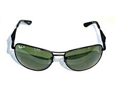 NEW Genuine Ray-Ban Aviator Sunglasses RB3519 Black Green Polarized Lens 006/9A